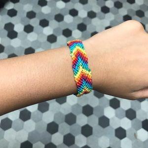 vsco rainbow chevron bracelet *READ DESCRIPTION*